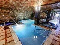 zona spa con jacuzzi y sauna