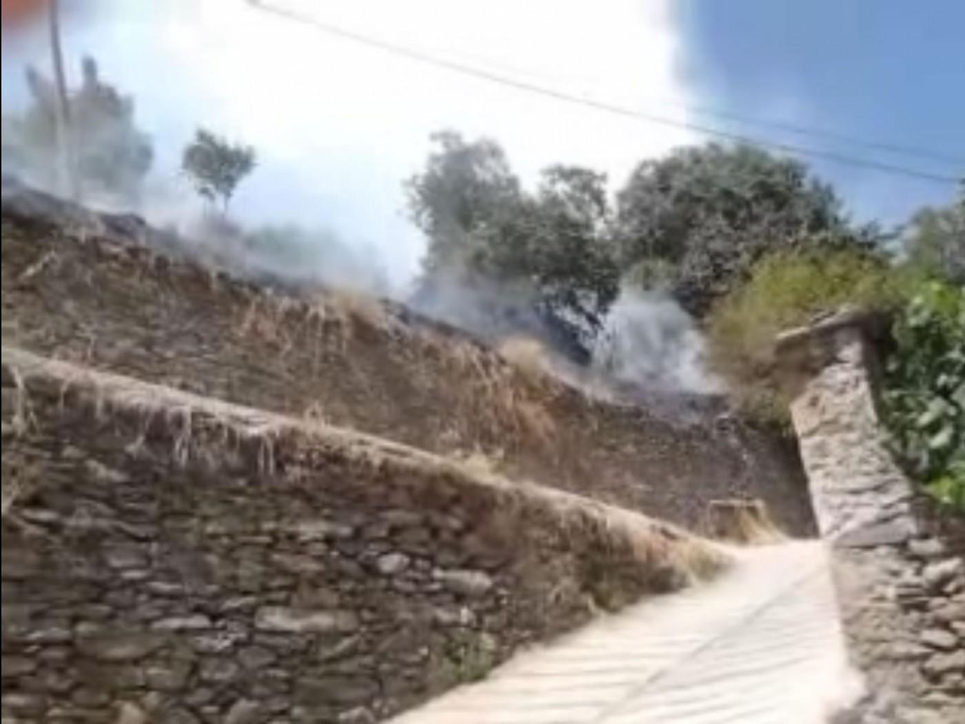 Incendio en Mecina Bombarón el 23 de Agosto de 2011