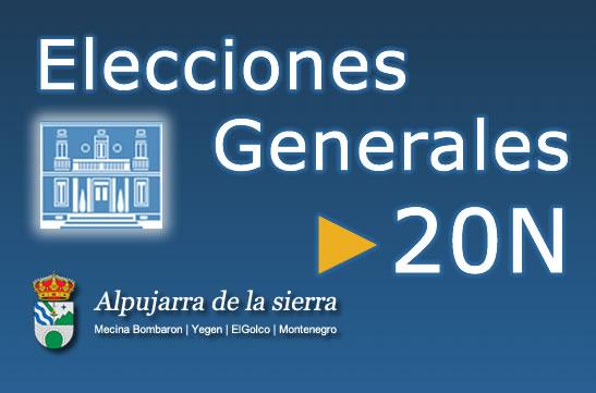 Resultados de las votaciones de las Elecciones Generales 2011 en Alpujarra de la Sierra
