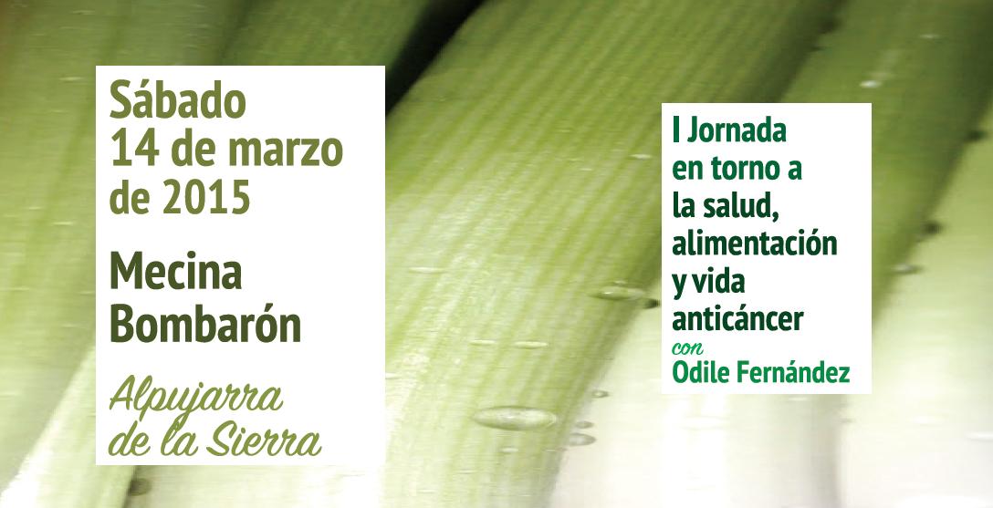 I Jornada en torno a la salud, alimentación y vida anticáncer con Odile Fernández