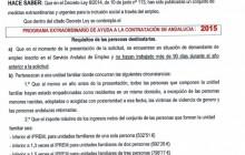 PROGRAMA EXTRAORDINARIO DE AYUDA A LA CONTRATACIÓN DE ANDALUCÍA : 2015