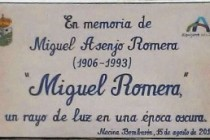 Homenaje a Miguel Romera
