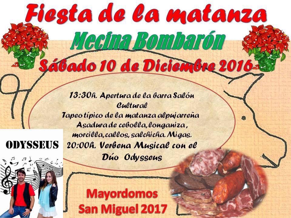 Fiesta de la Matanza en Mecina Bombarón 10 de Diciembre de 2016