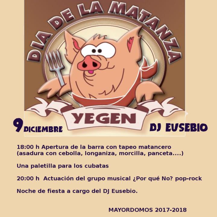 Fiesta de la Matanza en Yegen
