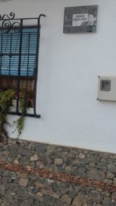 Mecina Bombarón da el nombre de Federico García Lorca a una de sus placetas