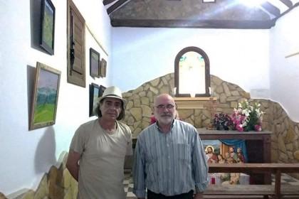 Manuel Martín Quesada expone sus paisajes alpujarreños en la ermita de la Virgen de Fátima, en la aldea de Montenegro
