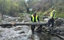 Alpujarra de la Sierra recupera los puentes de madera sobre el río para poder completar los recorridos circulares de senderismo