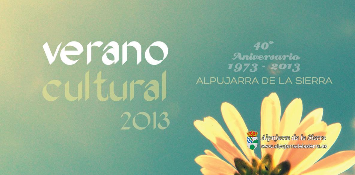 Verano cutural 2013: Programa de Actividades