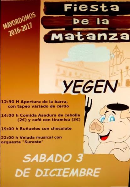 Fiesta de la Matanza en Yegen 3 de Diciembre