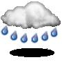 Muy nuboso con lluvia