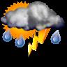 Intervalos nubosos con tormenta y lluvia escasa