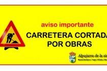 Corte total de la carretera durante 4 días el 5 de noviembre entre Mecina Bombaron y Yegen