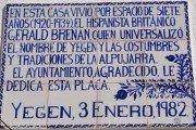 La Alpujarra rememora con literatura el 30 aniversario de la muerte de Brenan