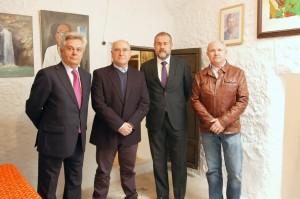 Antonio Jara junto con José Antonio Gómez el alcalde  de Alpujarra de la Sierra